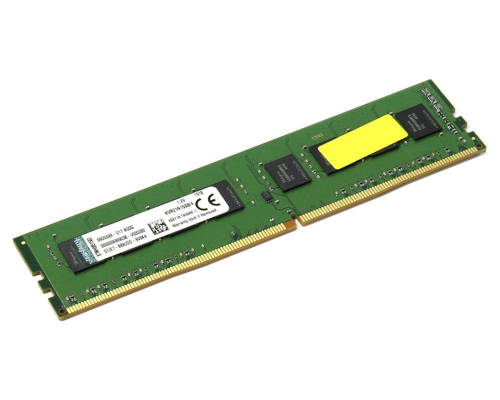 Модуль памяти Kingston DDR4 DIMM 2133MHz PC4-17000 CL15 - 4Gb KVR21N15S8/4 все цены