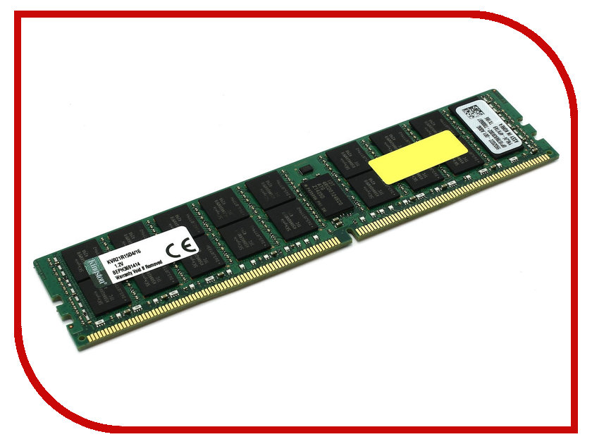 Модуль памяти Kingston DDR4 DIMM 2133MHz ECC PC4-17000 CL15 - 16Gb KVR21R15D4/16 оперативная память 16gb pc4 17000 2133mhz ddr4 dimm cl15 kingston kvr21n15d8 16