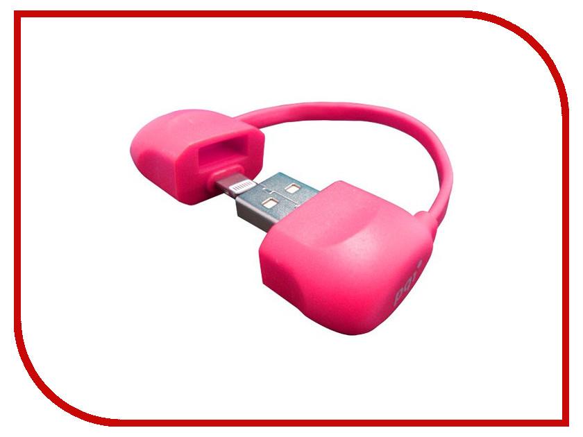 ��������� PQI BAG USB to Lightning 10cm ��� iPhone/iPad/iPod Pink PQI-iCABLE-BAG-PK