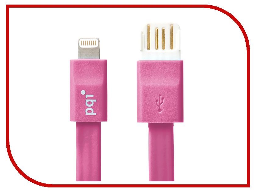 Аксессуар PQI USB to Lightning 20cm для iPhone/iPad/iPod Pink PQI-iCABLE-FLAT20-PK<br>