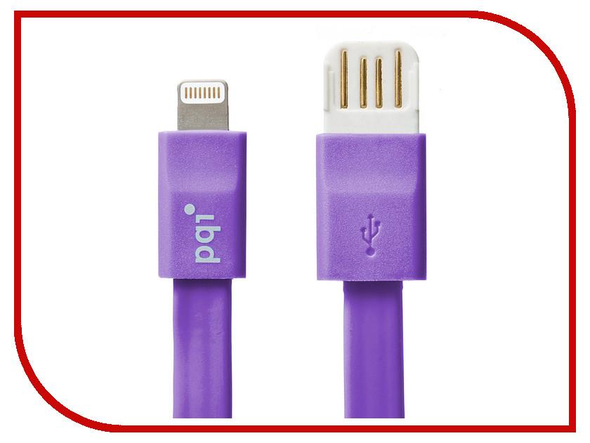 Аксессуар PQI USB to Lightning 20cm для iPhone/iPad/iPod Purple PQI-iCABLE-FLAT20-PP<br>