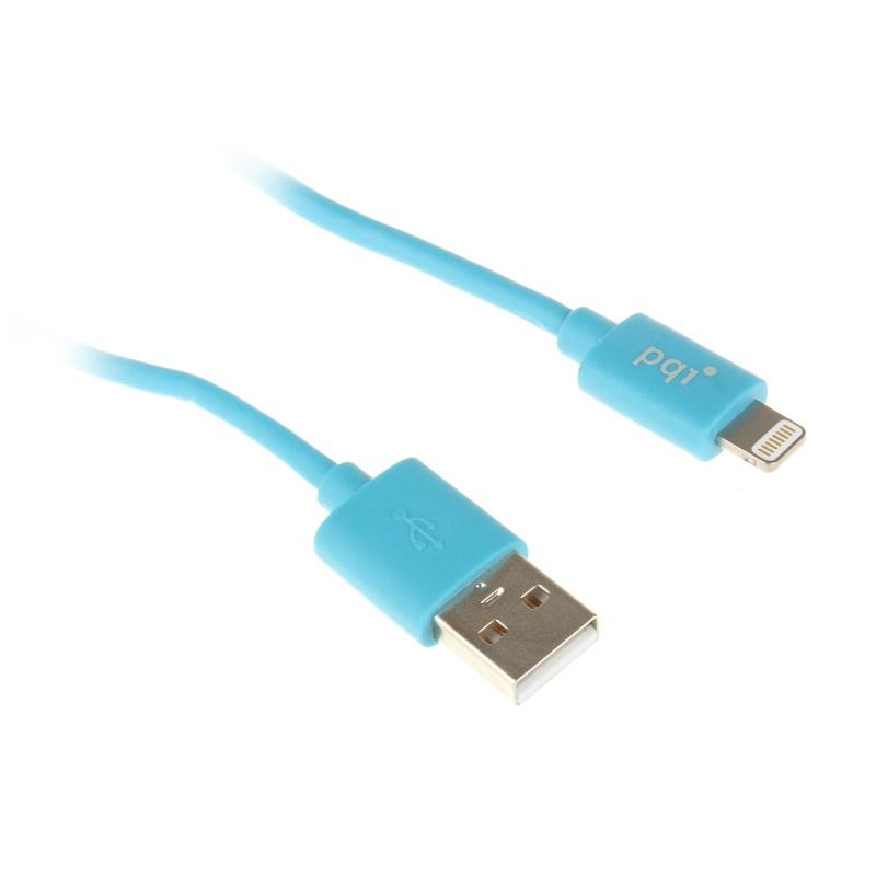 Аксессуар PQI USB to Lightning 90cm для iPhone/iPad/iPod Blue PQI-iCABLE-FLAT90-BL