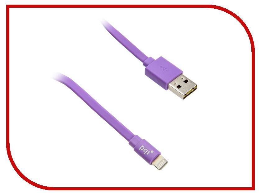 Аксессуар PQI USB to Lightning 90cm для iPhone/iPad/iPod Purple PQI-iCABLE-FLAT90-PP<br>