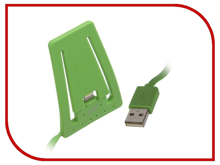 Аксессуар PQI USB to Lightning для iPhone / iPod AC1011 Green PQI-iSTANDCHARGE-GN