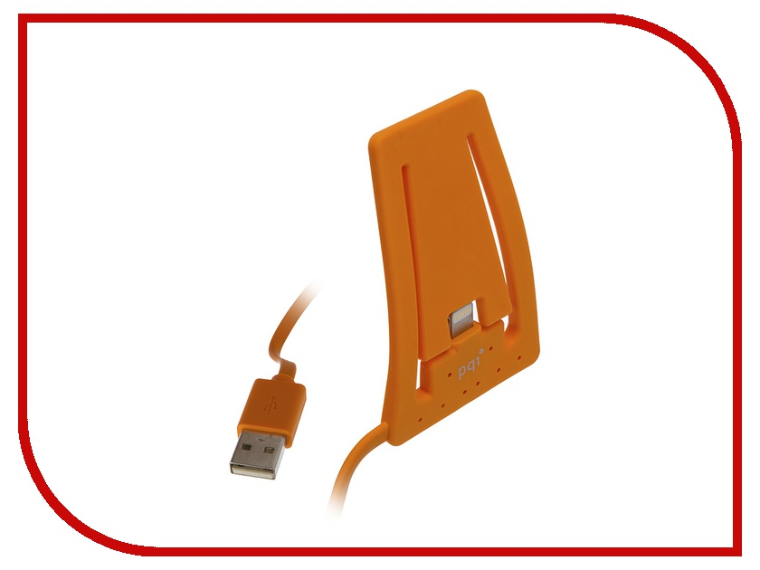Аксессуар PQI USB to Lightning для iPhone/iPod AC1011 Orange PQI-iSTANDCHARGE-OR<br>