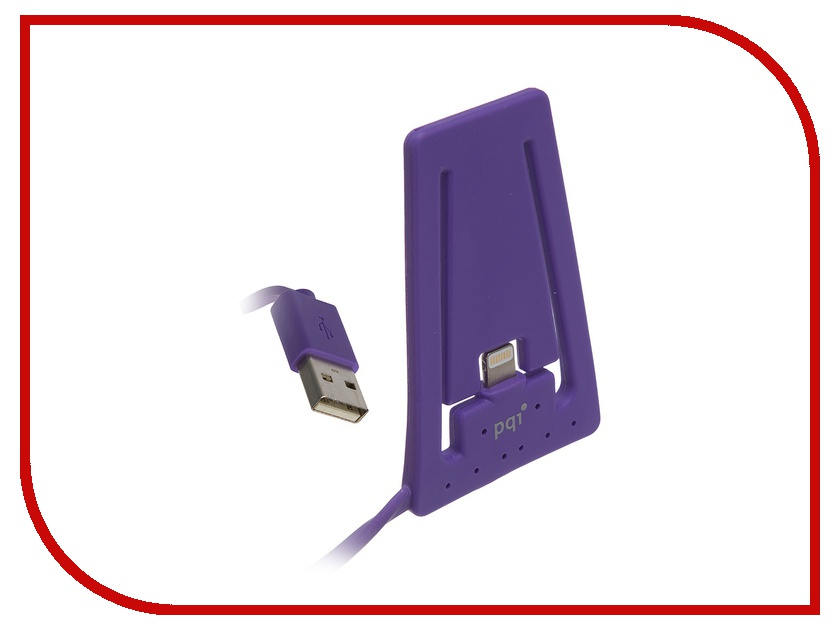 Аксессуар PQI USB to Lightning для iPhone/iPod AC1011 Purple PQI-iSTANDCHARGE-PP pqi 6ppu 12ir0004a