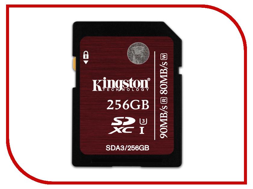 Карта памяти 256Gb - Kingston XC UHS-I(3) - Secure Digital SDA3 / 256Gb