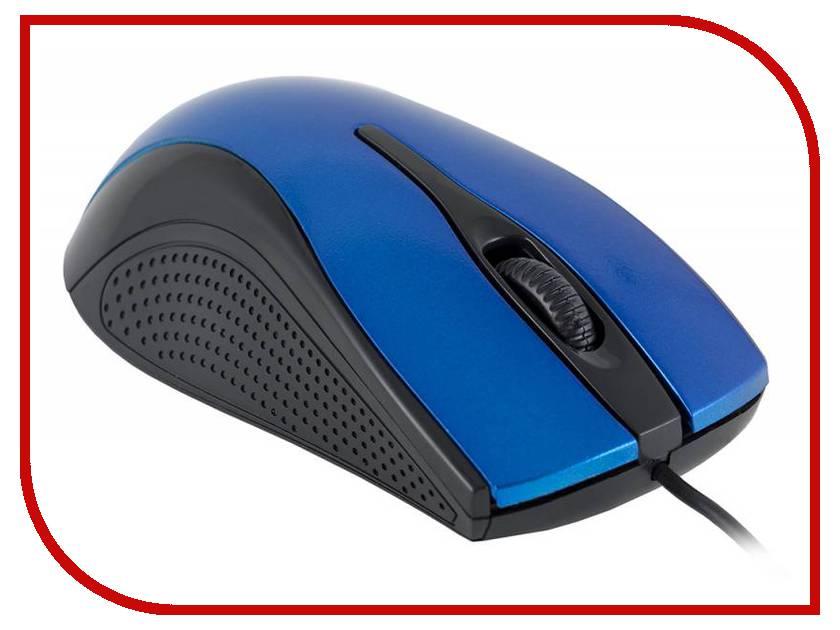Мышь проводная Oklick 215M Black-Blue USB<br>