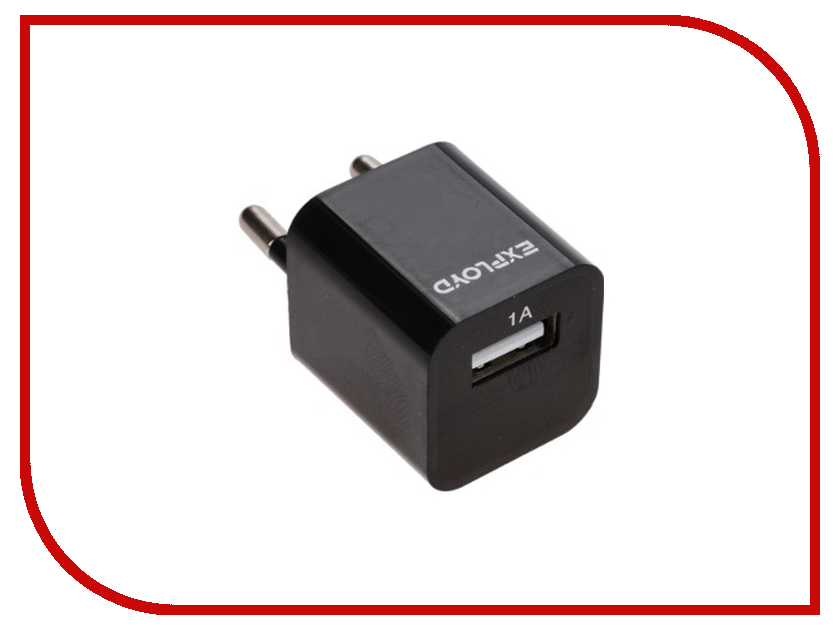 Зарядное устройство Exployd USB 1A Black EX-Z-00007<br>