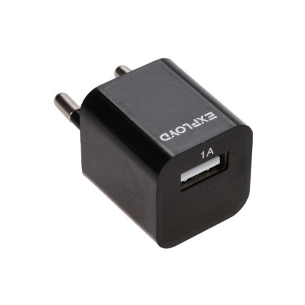 Зарядное устройство Exployd USB 1A Black EX-Z-00007