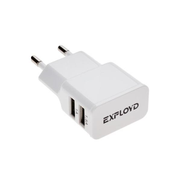 Зарядное устройство Exployd 2xUSB 2.5A / 1.5А + 1А White EX-Z-00010<br>