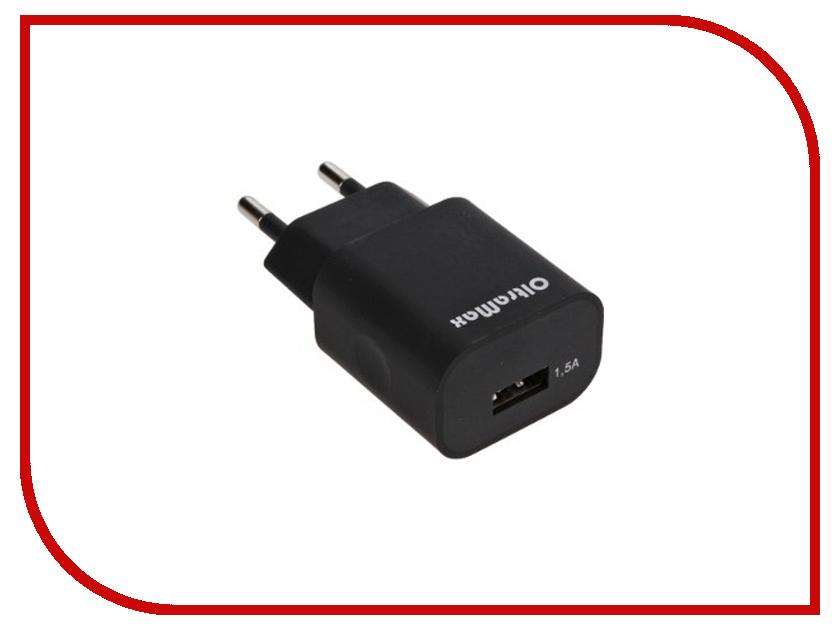 Зарядное устройство OltraMax USB 1.5A Black OM-Z-00007