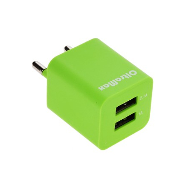 Зарядное устройство OltraMax 2xUSB 3.1A / 2.1A + 1A Light Green OM-Z-00014