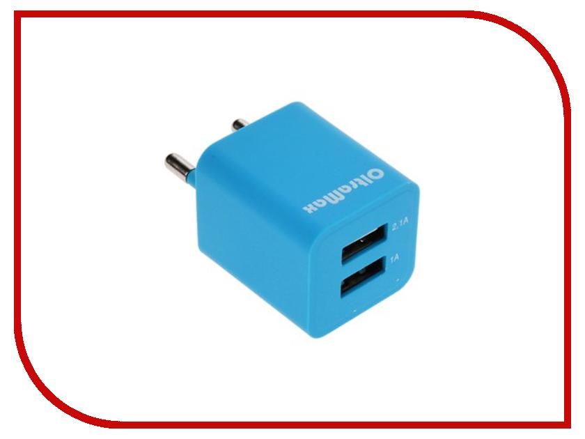 Зарядное устройство OltraMax 2xUSB 3.1A / 2.1A + 1A Light Blue OM-Z-00015