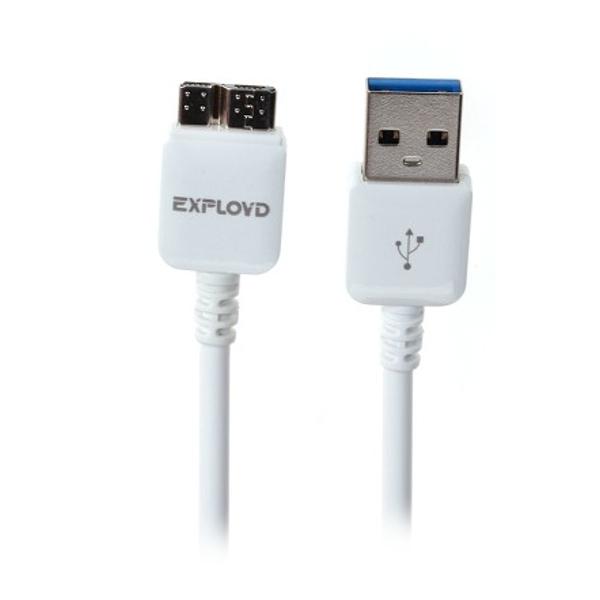Аксессуар Exployd USB - Micro USB 3.0 1m White EX-K-00054