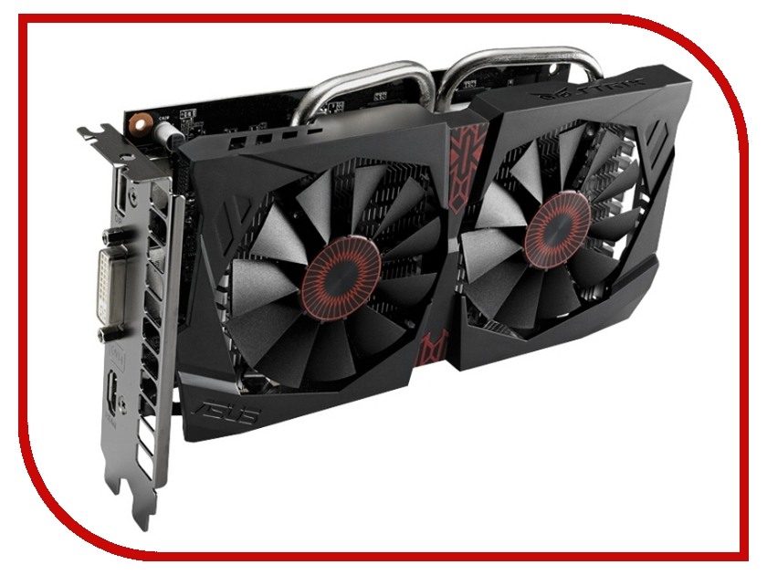 Видеокарта ASUS GeForce GTX 750 Ti 1202Mhz PCI-E 3.0 2048Mb 5400Mhz 128 bit DVI HDMI HDCP STRIX-GTX750TI-OC-2GD5<br>
