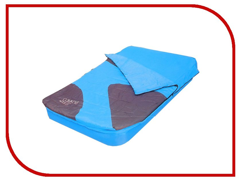 купить Надувной матрас BestWay 191x137x22cm 824856 + спальный мешок недорого