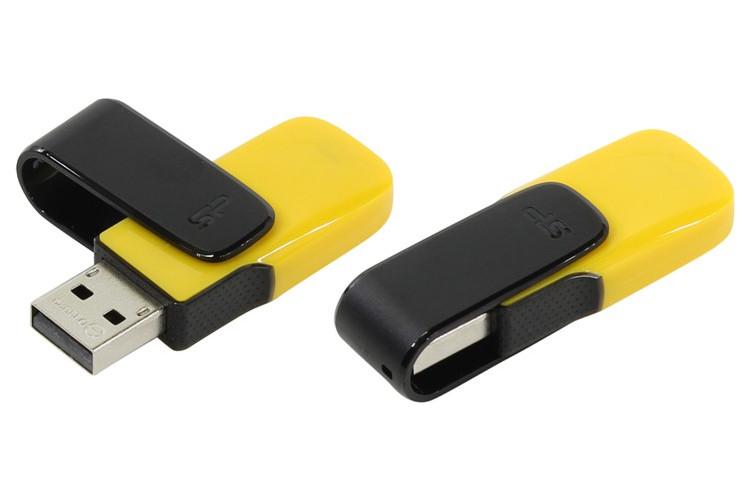 USB Flash Drive 8Gb - Silicon Power Ultima U31 USB 2.0 Yellow SP008GBUF2U31V1Y