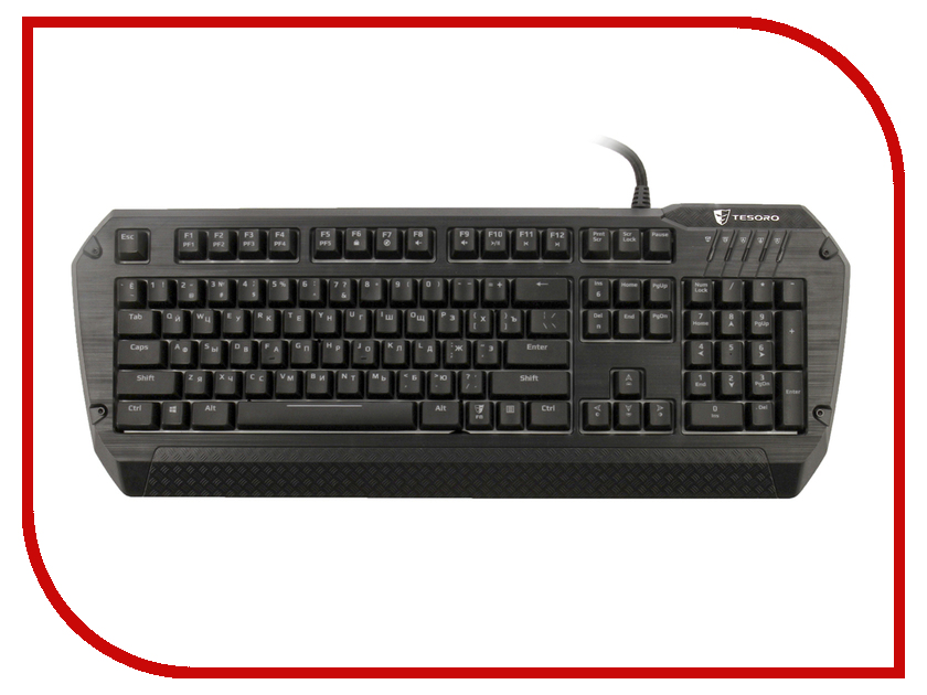 Клавиатура Tesoro Lobera Spectrum TS-G5SFL Kailh Black Black USB