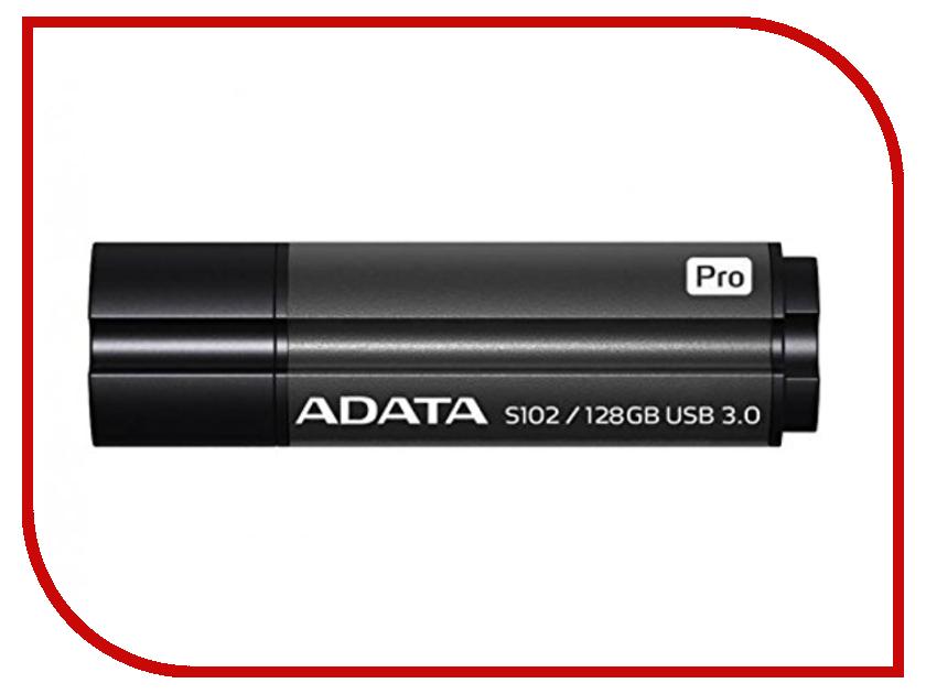 USB Flash Drive 128Gb - A-Data S102 Pro USB 3.0 Grey AS102P-128G-RGY цена