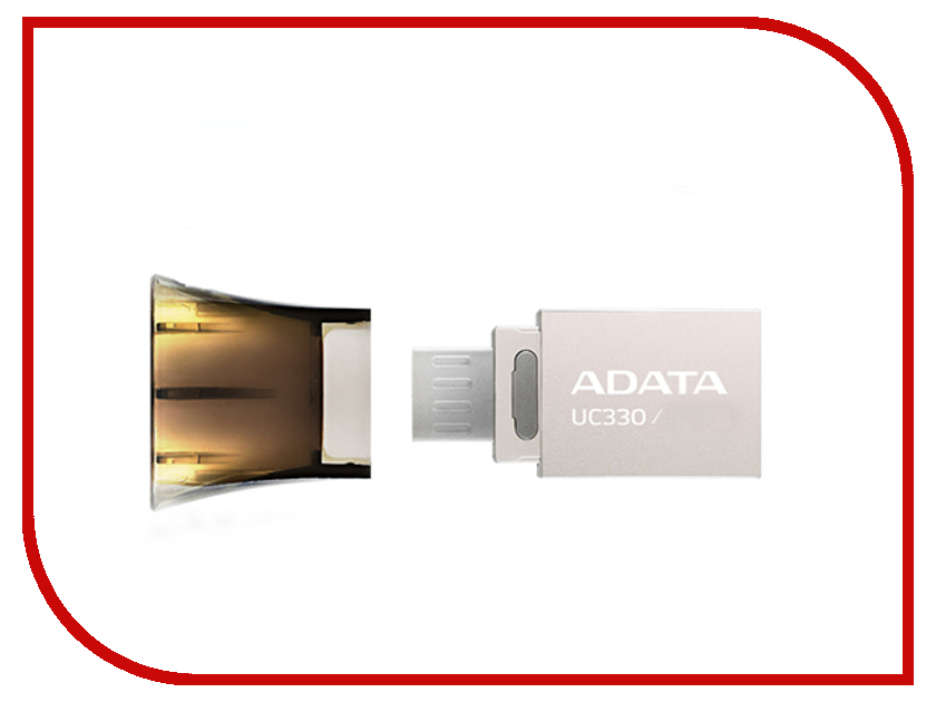 USB Flash Drive 16Gb - A-Data DashDrive UC330 OTG USB 2.0/MicroUSB Silver-Black AUC330-16G-RBK usb flash drive 16gb a data dashdrive durable ud311 blue aud311 16g rbl page 7