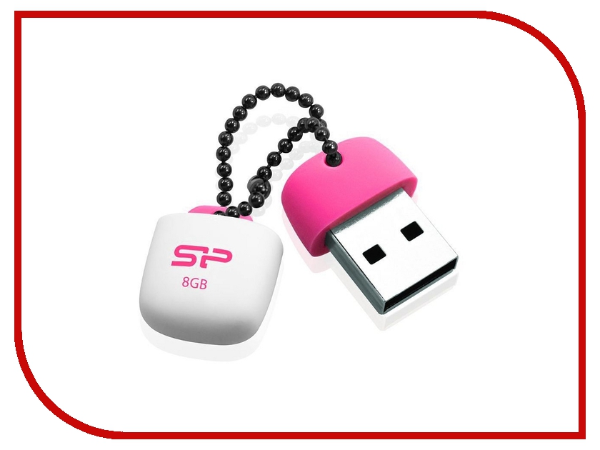 USB Flash Drive 8Gb - Silicon Power Touch T07 USB 2.0 Pink SP008GBUF2T07V1P usb flash drive 8gb silicon power touch t30 blue sp008gbuf2t30v1b
