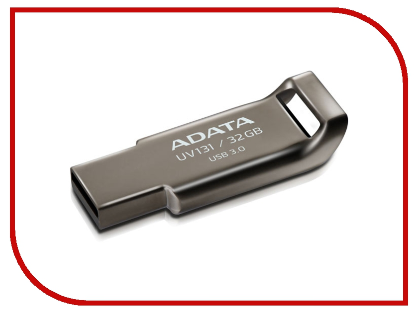 USB Flash Drive 32Gb - A-Data UV131 USB 3.0 Metal AUV131-32G-RGY<br>
