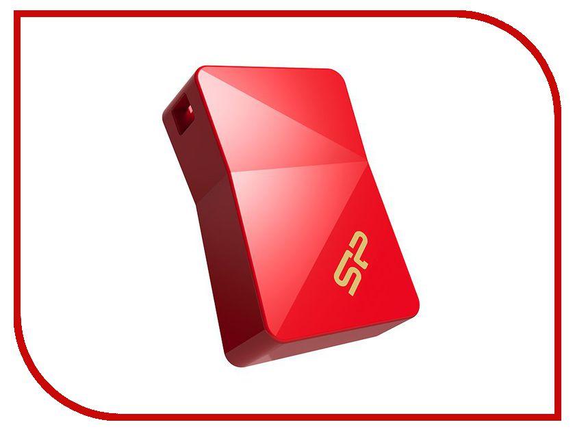 USB Flash Drive 8Gb - Silicon Power Jewel J08 USB 3.0 Red SP008GBUF3J08V1R<br>
