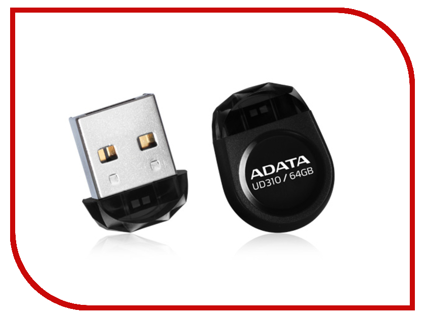 USB Flash Drive 64Gb - A-Data DashDrive UD310 USB 2.0 Black AUD310-64G-RBK usb flash накопитель a data dashdrive elite ue700 64gb