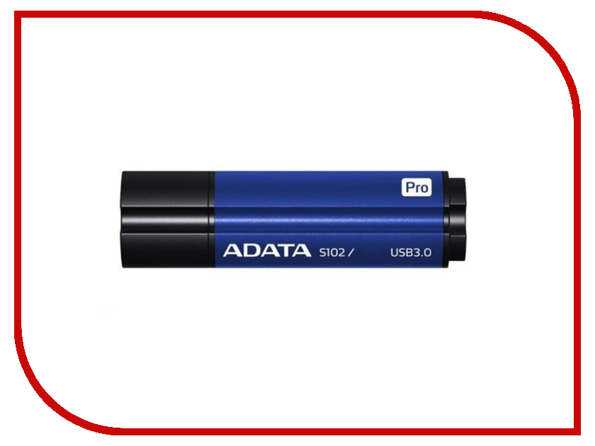 USB Flash Drive 64Gb - A-Data S102 Pro USB 3.0 Blue AS102P-64G-RBL<br>