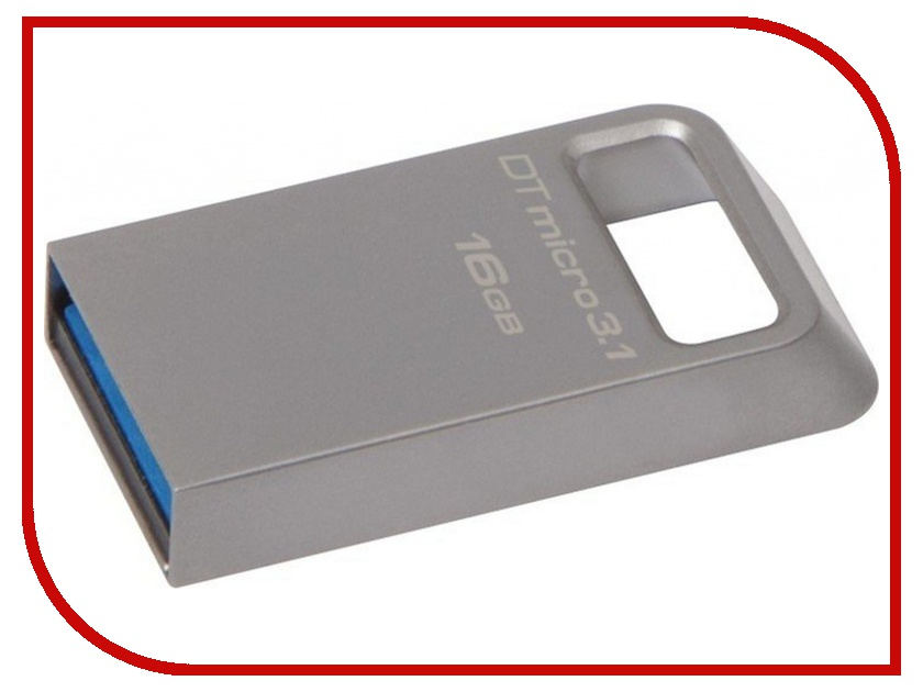 USB Flash Drive 16Gb - Kingston DataTraveler Micro USB 3.1 DTMC3/16Gb<br>