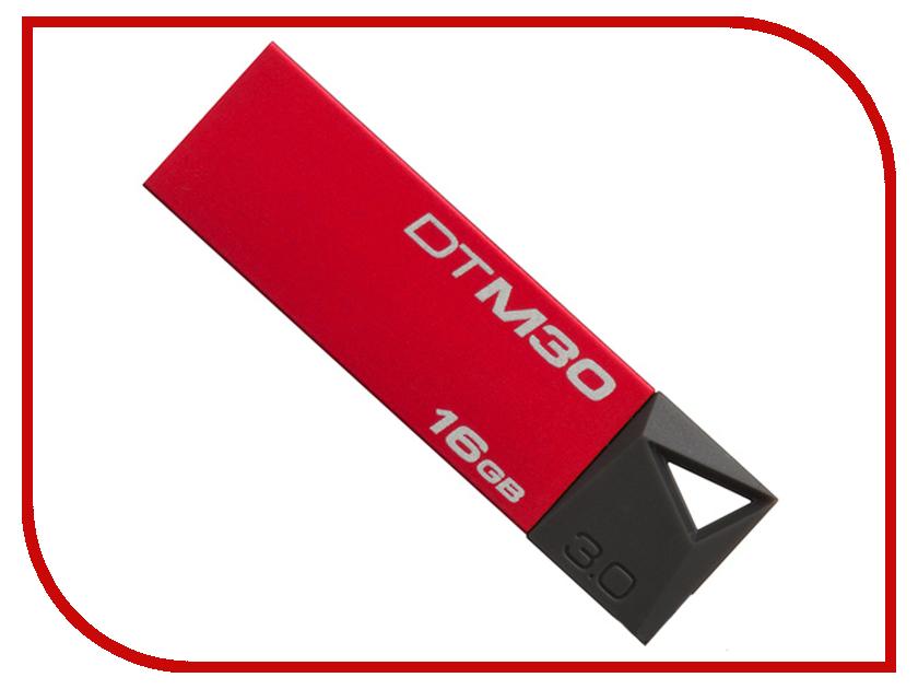 USB Flash Drive 16Gb - Kingston DataTraveler Mini USB 3.0 Red DTM30R/16Gb<br>