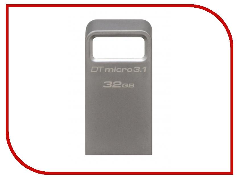 USB Flash Drive 32Gb - Kingston DataTraveler Micro USB 3.1 DTMC3/32Gb usb flash drive 32gb iconik фортепиано silver mtf piano 32gb