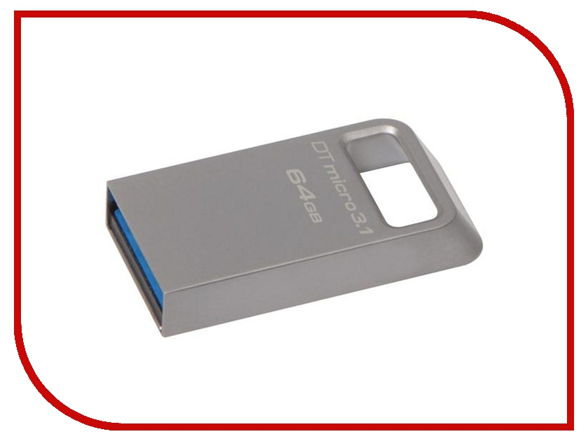 USB Flash Drive 64Gb - Kingston DataTraveler Micro USB 3.1 DTMC3/64Gb<br>