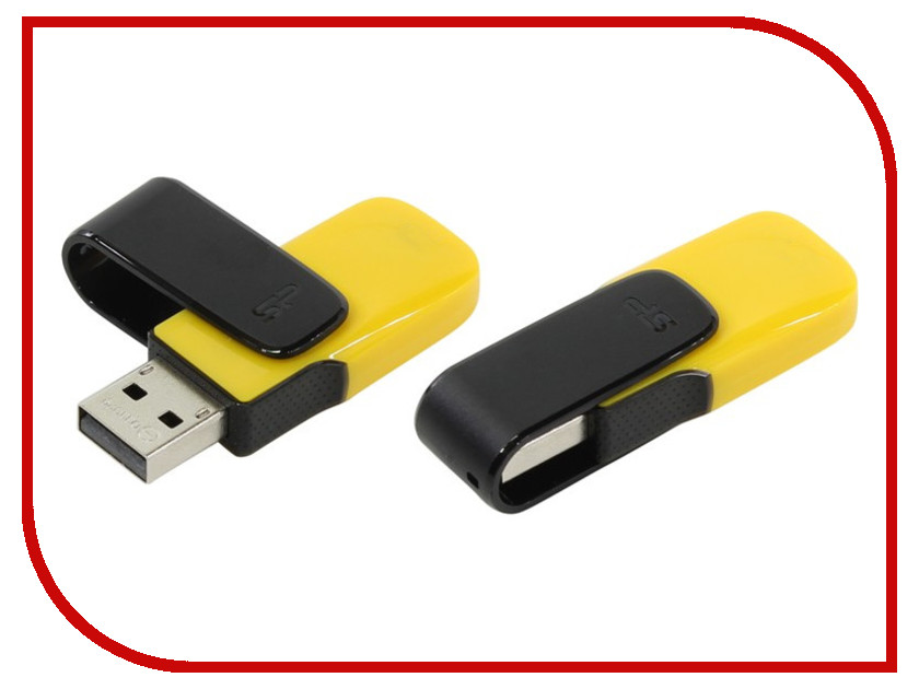 USB Flash Drive 16Gb - Silicon Power Ultima U31 USB 2.0 Yellow SP016GBUF2U31V1Y