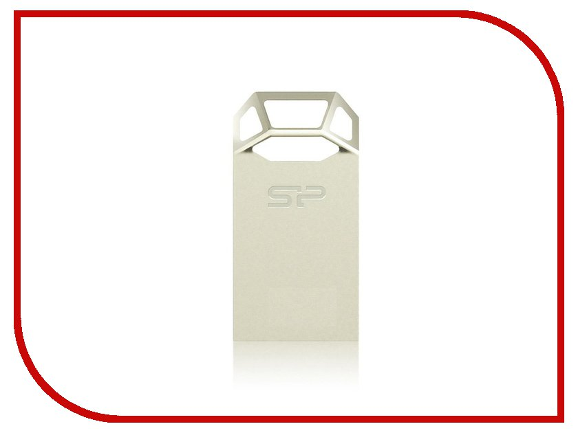 USB Flash Drive 16Gb - Silicon Power Touch T50 USB 2.0 Metal SP016GBUF2T50V1C<br>