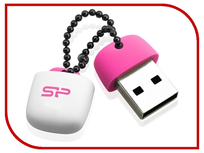 USB Flash Drive 16Gb - Silicon Power Touch T07 USB 2.0 Pink SP016GBUF2T07V1P<br>