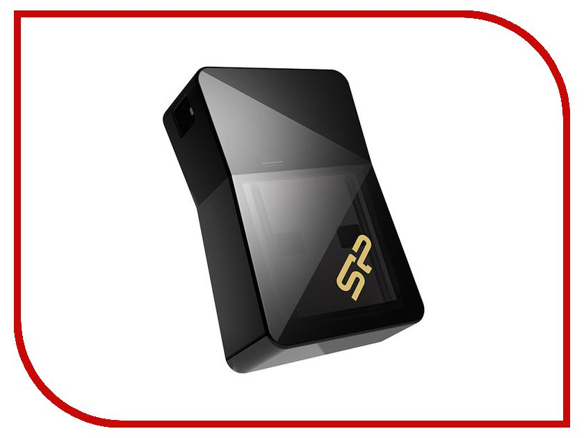USB Flash Drive 16Gb - Silicon Power Jewel J08 USB 3.0 Black SP016GBUF3J08V1K silicon power u30 rotatable cover usb 2 0 flash drive red silvery grey 16gb