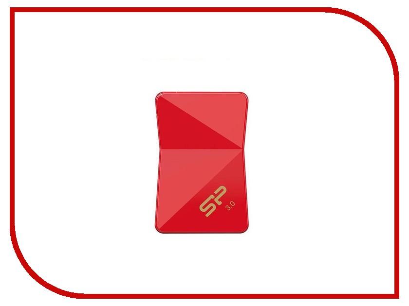USB Flash Drive 16Gb - Silicon Power Jewel J08 USB 3.0 Red SP016GBUF3J08V1R<br>