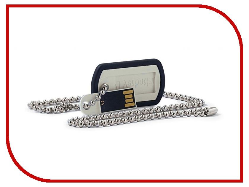 USB Flash Drive 16Gb - Verbatim Dog Tag USB 2.0 Black 98671