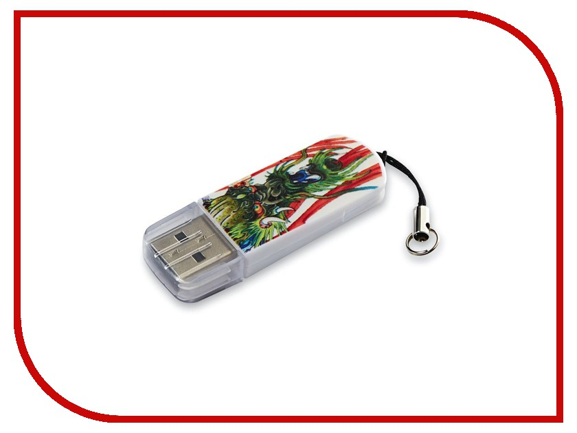 USB Flash Drive 16Gb - Verbatim Mini Tattoo Edition USB 2.0 Dragon 49888<br>