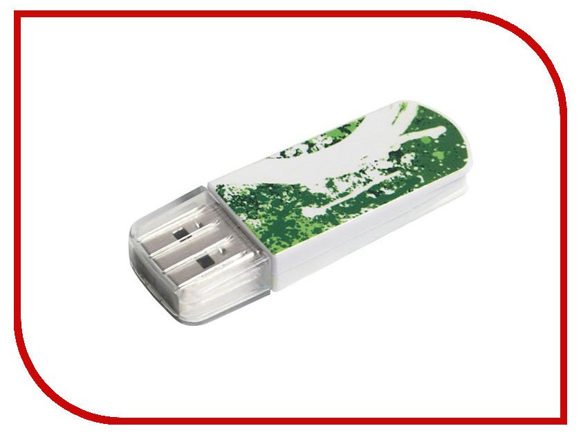 USB Flash Drive 8Gb - Verbatim Mini Graffiti Edition USB 2.0 Green 98163<br>