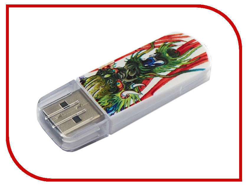 USB Flash Drive 8Gb - Verbatim Mini Tattoo Edition USB 2.0 Dragon 49884<br>
