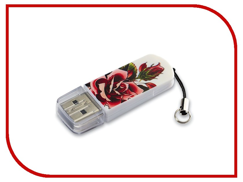 USB Flash Drive 8Gb - Verbatim Mini Tattoo Edition USB 2.0 Rose 49881