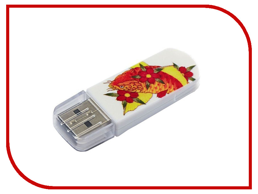 USB Flash Drive 8Gb - Verbatim Mini Tattoo Edition USB 2.0 Fish 49882