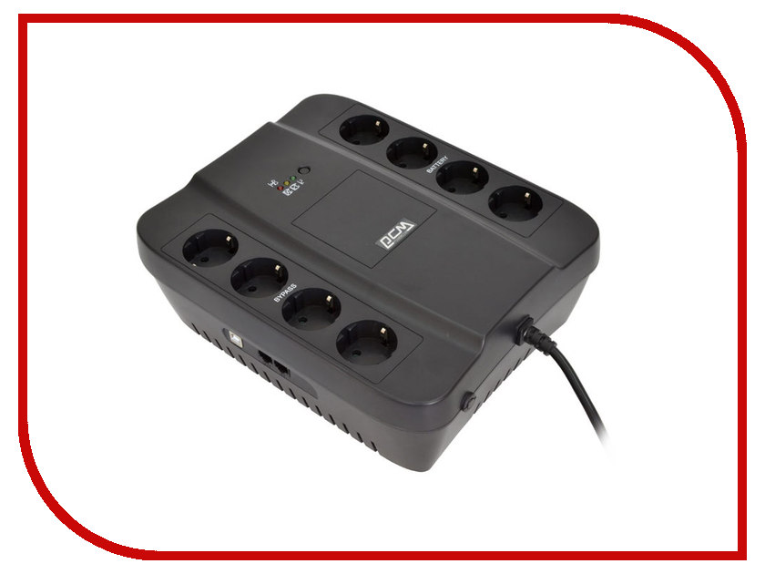 Источник бесперебойного питания Powercom Spider SPD-850U источник бесперебойного питания powercom wow 850u