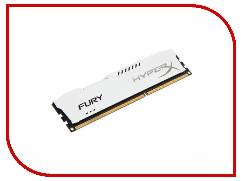Модуль памяти Kingston HyperX Fury White DDR3 DIMM 1866MHz PC3-15000 CL10 - 8Gb HX318C10FW/8
