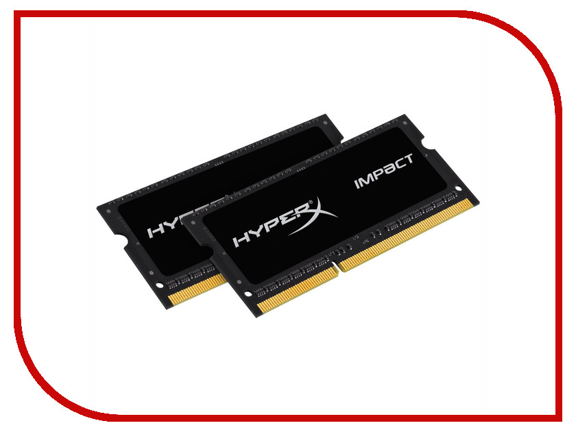 Фото Модуль памяти Kingston HyperX Impact DDR3L SO-DIMM 2133MHz PC3-17000 - 16Gb KIT (2x8Gb) HX321LS11IB2K2/16
