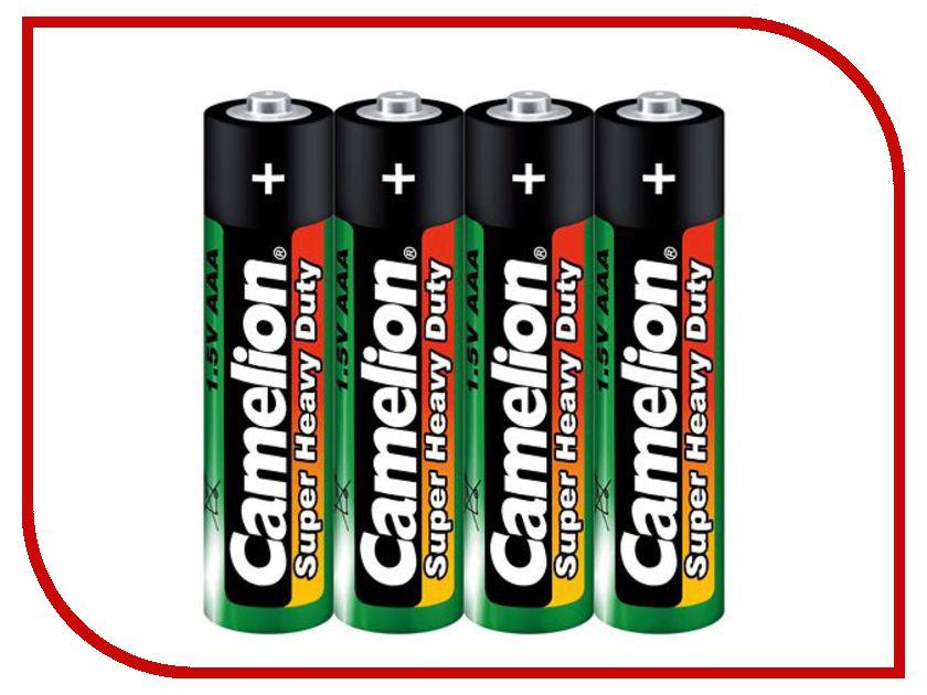 Батарейка AAA - Camelion Green R03 R03P-BP4G (4 штуки) батарейка aaa camelion blue r03 r03p bp4b 4 штуки