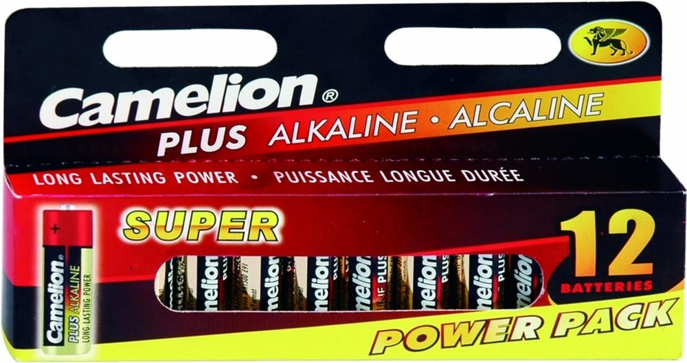 Батарейка AA - Camelion Plus Alkaline LR6-HP12 (12 штук)